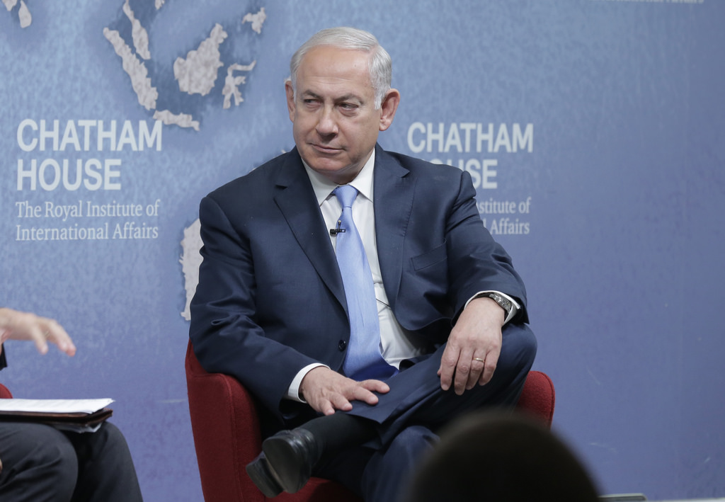 <i>Benjamin Netanyahu, Prime Minister, State of Israel, Image Source: <a href='https://www.flickr.com/photos/chathamhouse/26364690219'>Chatham House</a></i>