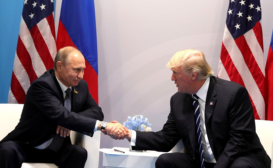 <i>Putin Meeting with US President Donald Trump, Image Source: <a href='http://en.kremlin.ru/events/president/news/55006'>Kremlin</a></i>