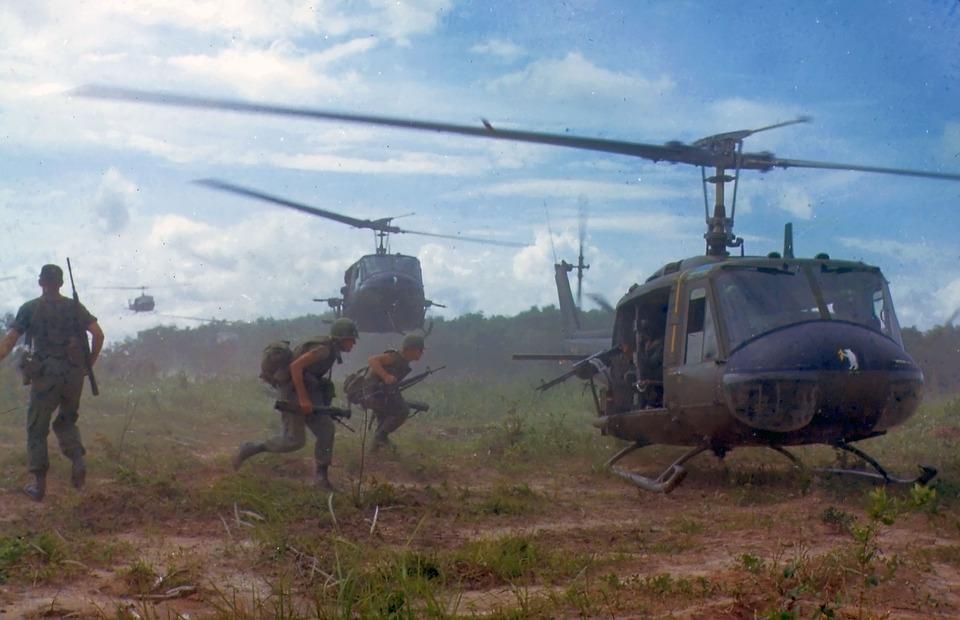<i>Vietnam War Imagery, Image Source: <a href='https://pixabay.com/en/military-vietnam-war-soldiers-1348281/'>Pixabay</a></i>